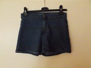 Blaue Jeansshorts mit weißen Punkten (highwaist)