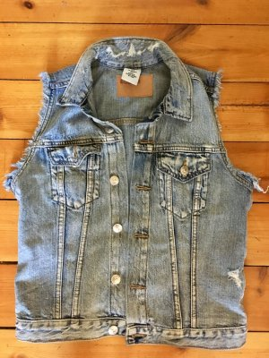 Blaue Jeansweste von h&m