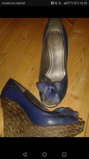blaue Keilabsatz Schuhe von Hispanitas