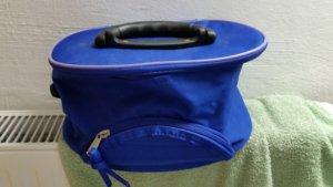 Blaue Kosmetik Tasche mit Spiegel