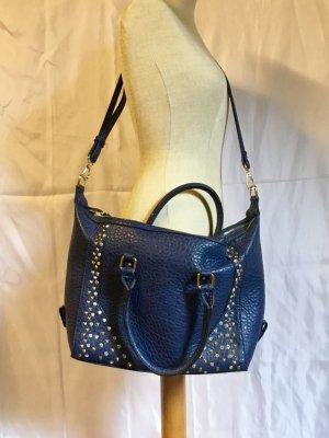 Blaue Kunstleder Tasche