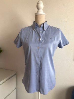 Blaue Kurzarm Hemd Bluse von Tommy Hilfiger