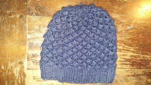C&A Sombrero de punto azul oscuro Lana