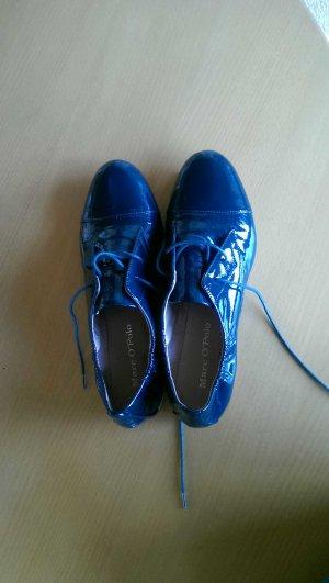 Blaue Lackballerinas von Marc O'Polo