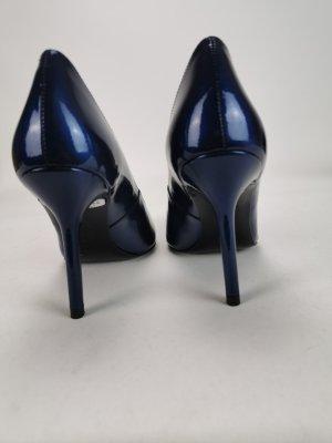 Blaue Lackleder High Heels von Escada