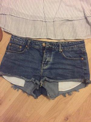 Blaue lässige Jeans Shorts