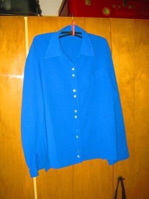 blaue Langarm-Bluse
