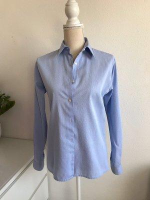 Blaue Langarm Hemd Bluse von Uli Knecht