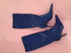 blaue Leder Highheels