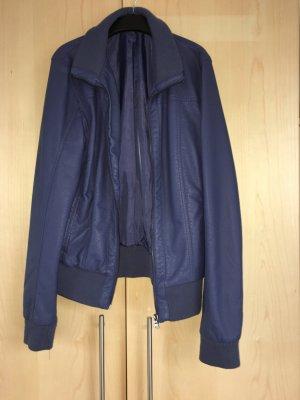 Takko Leather Jacket steel blue-dark blue