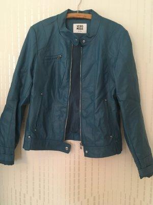 Blaue Lederjacke von Vero Moda