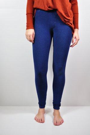 Blaue Leggings / Jeggings aus festem Stoff