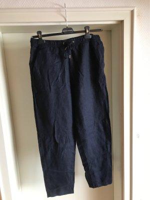 H&M Premium Linnen broek donkerblauw
