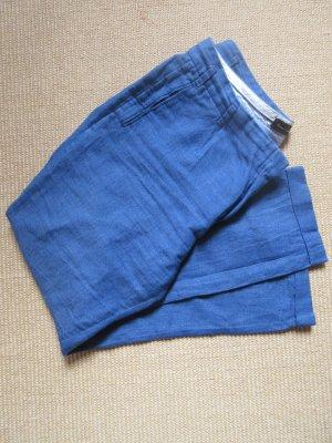 Massimo Dutti Pantalon en lin bleu fluo-bleu azur lin