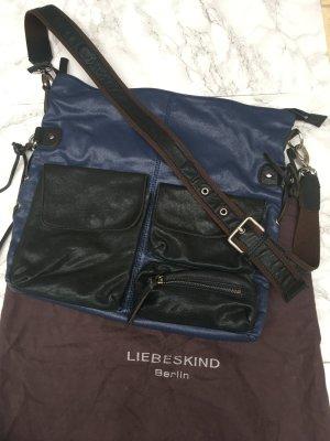 Liebeskind Berlin Borsa sacco blu-blu acciaio Pelle