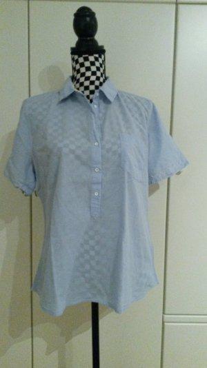 Blaue LOGG H&M kurzarm Bluse