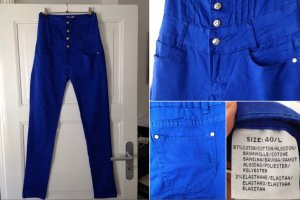 Hoge taille broek blauw Katoen