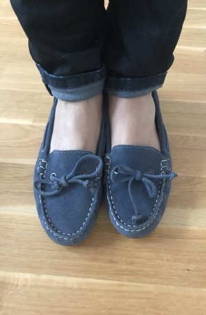Moccasins neon blue