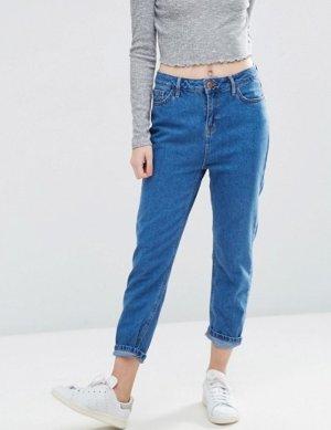 blaue Mom Jeans von New Look