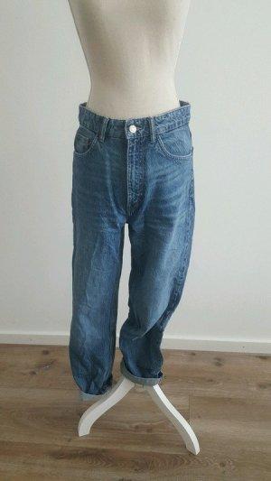 Blaue Mom Jeans von Trafaluc Gr.36