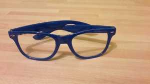 Blaue Nerdbrille / neu