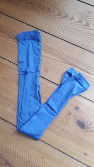 Blaue Nylon Leggings