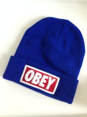 Blaue Obey Beanie / Mütze