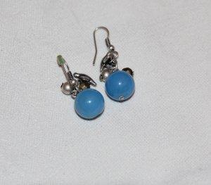 Blaue Ohrringe mit Vögeln und silbernen Kugeln NEU von Accessorize