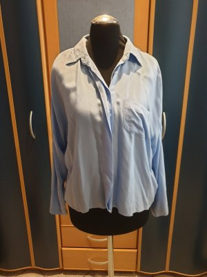 Blaue Oversize Bluse