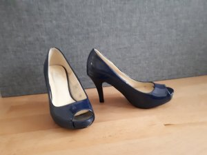 Blaue peeptoe  pumps