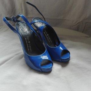blaue Peeptoes in Lack