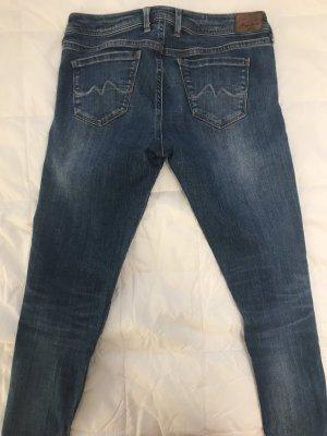 Blaue Pepe Jeans mit Bein-Reisverschlüssen