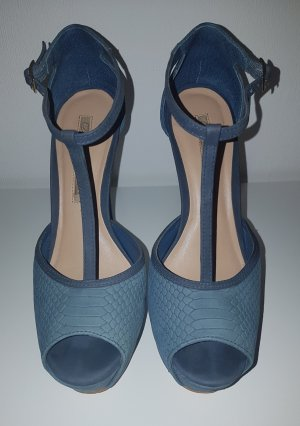 Blaue Plateau High Heels von Buffalo London