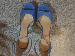 Guess Platform High-Heeled Sandal light blue leather