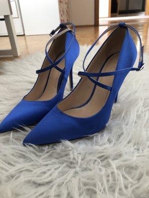 Zara Tacones altos azul