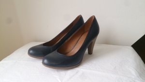blaue Pumps Lederimitat