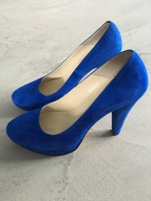 Blaue Pumps // Mini Milano
