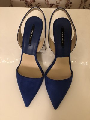 Zara Basic Slingback Pumps blue