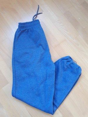 Pantalone da ginnastica blu acciaio-blu neon Cotone
