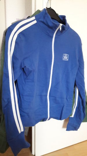 blaue retro vintage Trainingsjacke von Only L 38