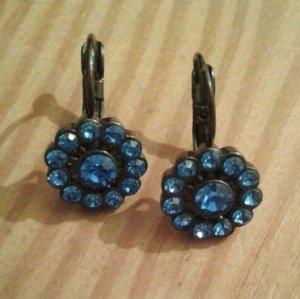 Blaue runde Ohrringe NEU