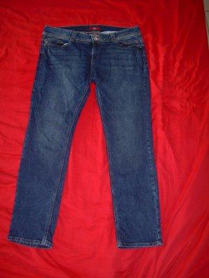 blaue S. Oliver Jeans Shape Slim Gr. 44 L32 gerades Bein