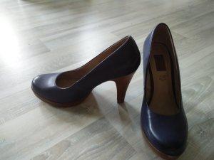 Blaue s.Oliver Pumps / High Heels Leder