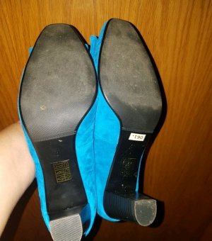 Blaue samt Pumps Di Lauro