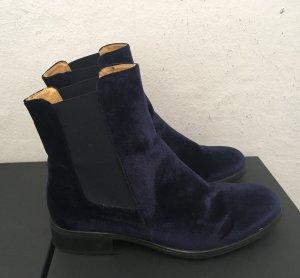 Blaue Samt - Stiefeletten, kaum getragen, 39