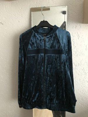 Blaue Samtjacke / Bluse von Zara