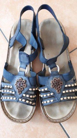 Rieker Sandales confort bleu foncé-beige clair