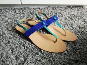 blaue Sandalen von Zara