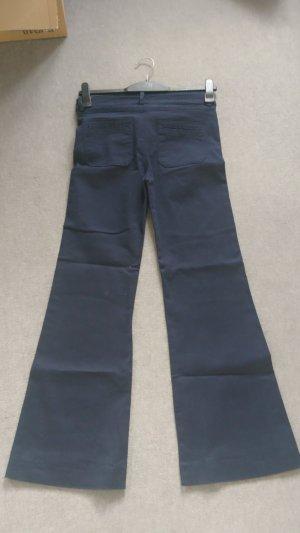 H&M Denim Flares dark blue cotton