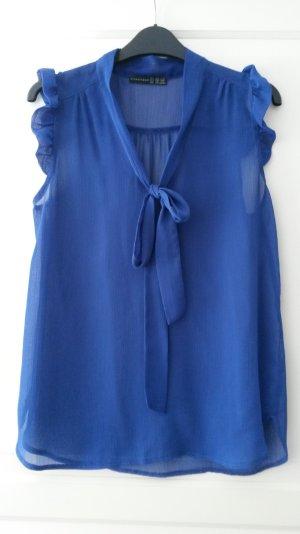 blaue Schlupf- Bluse
